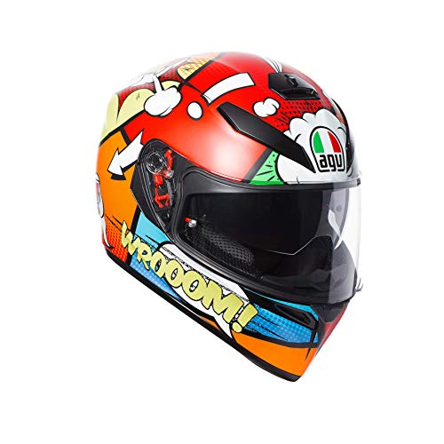 AGV Helmets Motorradhelm K-3 Sv E2205Multi Plk Balloon, mehrfarbig, Pinlock, Gr. MS