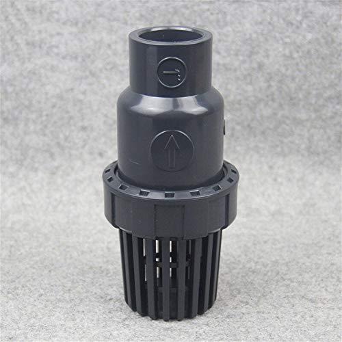 Fuerte y robusto 3pcs UPVC I.D 20 25 32 40 50 63 mm Filtro de agua del filtro de agua de la bomba de entrada de agua Outlet PVC válvula de retención Con filtro del acuario Fittings Manguera de jardín.