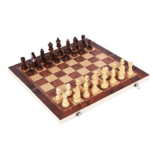 tJexePYK Ajedrez para Adultos y niños Mesa de la Familia Tradicional Juego del Juego de ajedrez