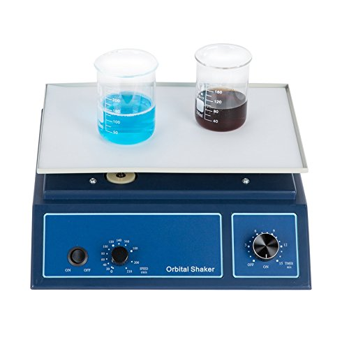 CO-Z Orbital Shaker Adjustable Speed at 0-210 RPM, Lab Oscillator Orbital Rotator Shaker with 12.5 x 8.7 Inch Working Platform