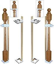 Safety Innovations No Hole Stairway Baby Gate Mounting Kit - Fits Posts from 2 3/4 inches to 3 5/8 inches Wide with Square or Round Tops - No Adhesives On Or Screws in Your Posts, (2-Pack)