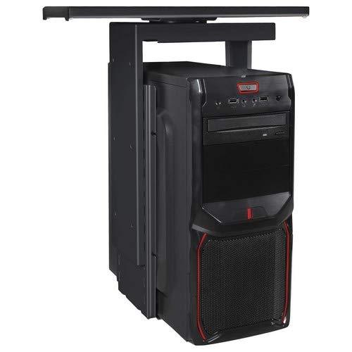 Amstyle PC-Halter, Metall, Schwarz, 11x46x15 cm