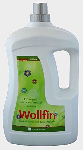 Hepp GmbH & Co KG – Wollfin Maiglöckchen Flüssiges Feinwaschmittel-Konzentrat 3000 ml Henkelflasche 114 WL