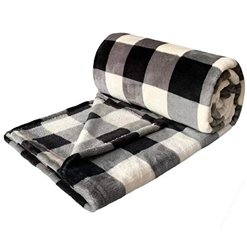FFLMYUHUL I U Sherpa Ultra Super Soft and Light Warm Comfortable Plaid Check Flannel Throw Blanket