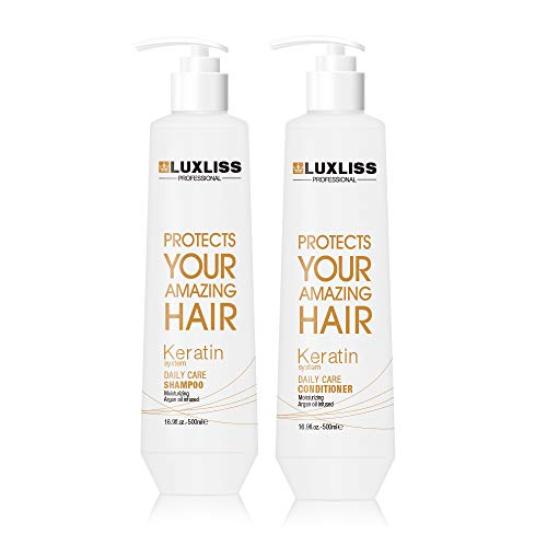 Luxliss Keratin Daily Care Shampoo 500 ml & Conditioner 500 ml (Combo Of 2)