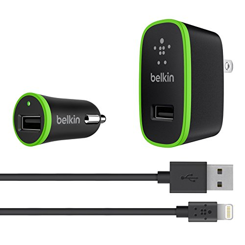 Belkin Apple Certified Charging Kit with Lightning to USB ChargeSync Cable (2.1 Amp / 10 Watt per Port)