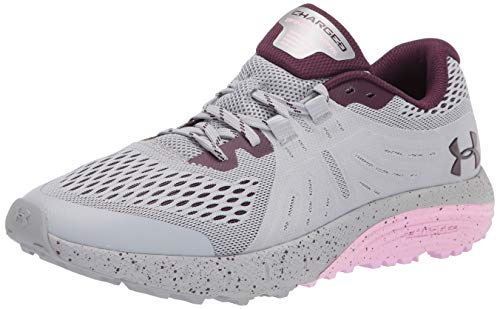 Under Armour Women's Charged Bandit Trail Running Shoe, Mod Gray (101)/Stellar Pink, 9