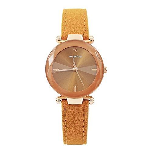 Zhouzl Outdoor Sports Accessories Reloj de Cuarzo Starry Sky Strap Strap de Strap Sky for Mujer de MODIYA PD387 Outdoor Sports Accessories (Color : Amarillo)