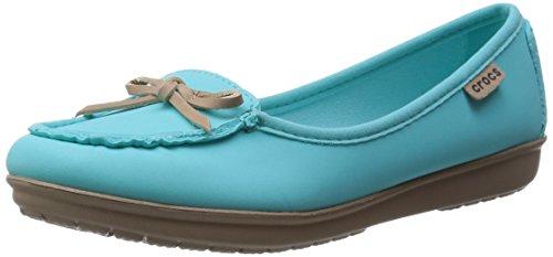 Crocs Damen Wrap Colorlite Balle Slipper, Blau (Pool/Tumbleweed), 34-35 EU