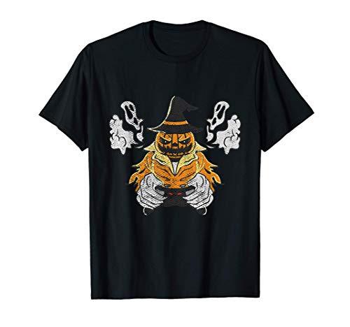 Jugador de calabaza de última hora disfraz de jugador de Hal Camiseta