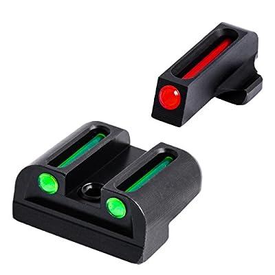 TRUGLO Fiber-Optic Front and Rear Handgun Sights for Sig Sauer Pistols, Sig #8 Front / #8 Rear Sets