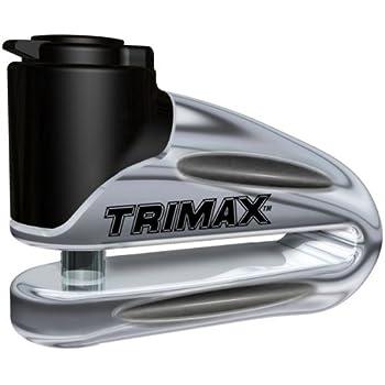 Trimax t665lc Metal endurecido Bloqueo de Disco–Chapado en Cromo 10mm Pin (Largo) de Garganta con Funda y Cable recordatorio