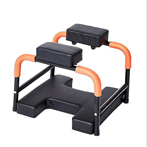 Best Bargain ZYK Yoga Headstand Bench- Stand Yoga Chair for Family, Gym - Wood and PU Pads,Gym Exe...