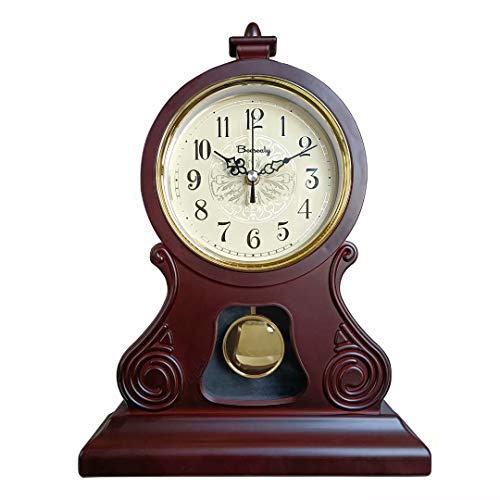 Orologio da mensola, vecchio orologio da tavolo antico, orologio da camino antico, orologio da mensola della fattoria, silenzioso, adatto per mensola del camino, ufficio, scrivania, mensola