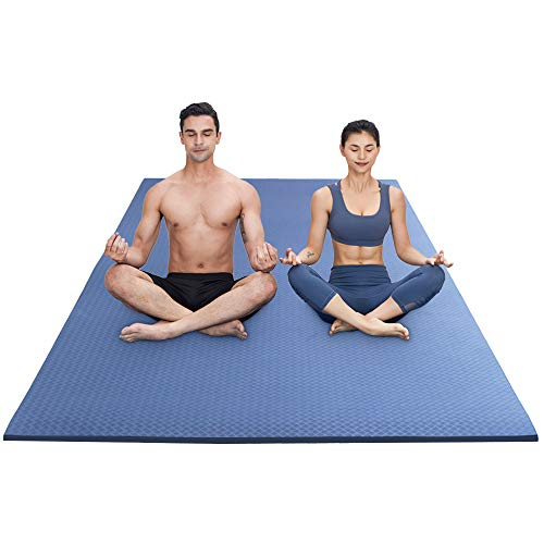 RYTMAT Esterilla Yoga Extra Grande 200×130×1.5cm TPE Antideslizante Esterilla Deporte para Ejercicio Pilates Fitness Workout Gimnasia