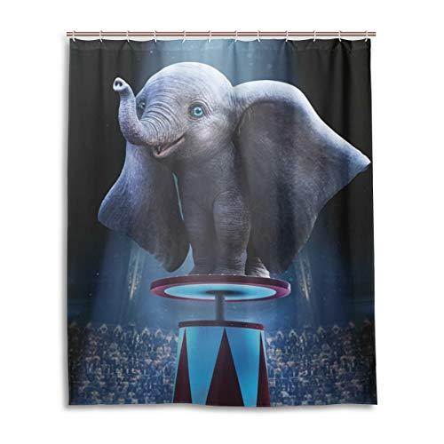 YOMORIO Dumbo Duschvorhang Badezimmer Dekoration Wasserdicht Duschvorhang mit 12 Kunststoffhaken 152,4 x 182,9 cm