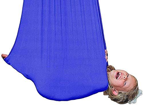 Swing de la terapia interior de la hamaca de yoga para adultos y niños con necesidades especiales Sillón sensorial elástico que cuelga Silla de hamaca, hardware incluido Yoga Silk Swing, cuerda de con