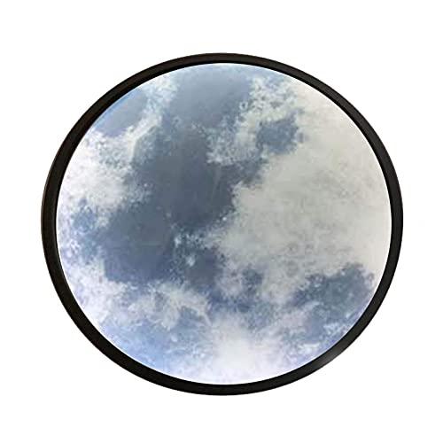 showyow Moon Light Luz de Noche para niños Galaxy Light 5.9 Pulgadas LED 3D Star y Moon Maquillaje Espejo de luz con Soporte de Madera, Decoración de habitación de niñas