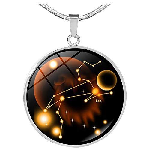 Hunpta - Collar con colgante para mujer, 12 constelaciones