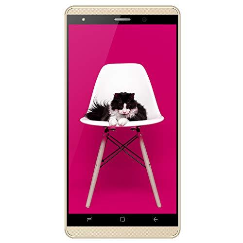Smartphone Offerta del Giorno 4G, J3 5.1 Pollici 16GB ROM Dual SIM Doppia Fotocamera 5MP Smartphone Economici in Offerta Quad-Core, Telefonia Mobile, 2800mAh Bluetooth DUODUODO J3 (gold)