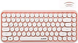 Wireless Bluetooth Keyboard, Compact 84 keys Lightweight Keyboard,Retro Style,Matte Texture,Typewriter Design,Compatible w...