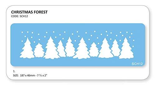 JEM Kerstmis Forest sjabloon
