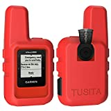 TUSITA Case for Garmin inReach Mini - Silicone Protective Cover - Handheld Satellite Communicator Accessories (Red)