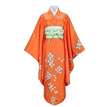 Cos-Love Danganronpa 2 Hiyoko Saionji Cosplay Kimono Outfit Long Robe Costume Full Set for Girls Women