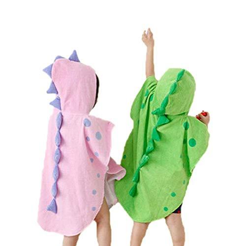 PetKids - Toalla con capucha para bebé, diseño de dinosaurio para niños, 100 % algodón, para recién nacidos y niños