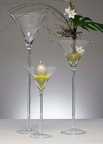 XXL Martiniglas Glas Kelch Riesenglas Glasvase Blumenvase Bodenvase riesig groß ca. 70 cm