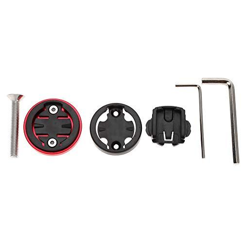 Support d'ordinateur de Vélo, Support d'ordinateur Durable Solide Compatible avec Le Capuchon Supérieur de Tige de Vélo Garmin/Bryton/Cateye (Rouge)