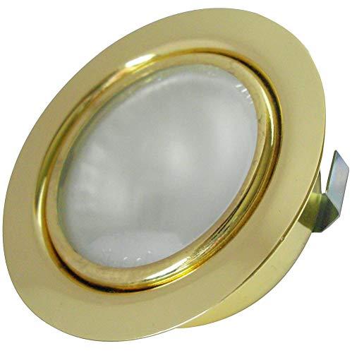 4 Stück Halogen Möbeleinbaustrahler Mira 12 Volt 20 Watt Farbe Chrom