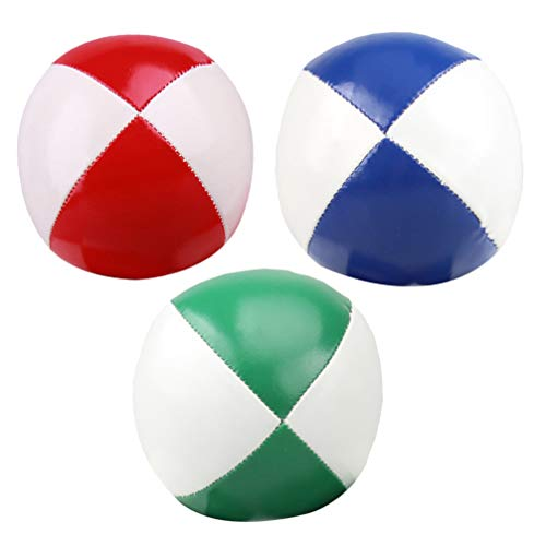 NUOBESTY Jonglierbälle für Anfänger Kinder Erwachsene - Xballs Jonglierbälle 3St
