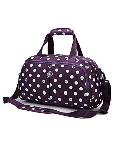 Womens Small Overnight Travel Duffel Bag for Girls Sport Gym Bag(Small,Purple)