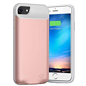 Battery Case For Iphone 876s6se 20202nd Generation6000mah Portable Charger Case Rechargeable Battery Pack Charging Case Compatible With Iphone Se 20202nd Generation876s6 47 Inch Pink