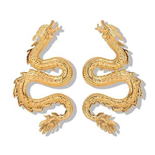 SHAOKAO 2020 Cool Boy Girl Firery Dragon Totem Stud Pendientes de moda joyería unisex perla gota pendientes