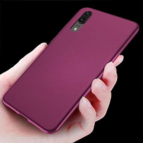 Huawei P20 Hülle, [Guadian Serie] Soft Flex Silikon Premium TPU Echtes Telefongefühl Handyhülle Schutzhülle für Huawei P20 Case Cover [Weinrot] - 4