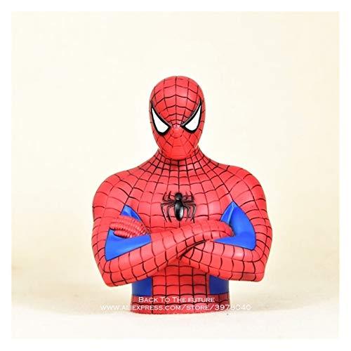 JSJJAET Hucha Marvel Spider Man Piggy Bank 17cm Figura de acción Postura Anime Decoración Colección Estatuilla Juguetes Modelo Niños (Color : White)