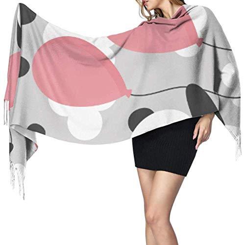 Kevin-Shop 27 'x 77' vrouwen sjaal wrap schattig vliegen met roze ballon vrouw sjaal lichte sjaal voor meisjes stijlvolle grote warme deken