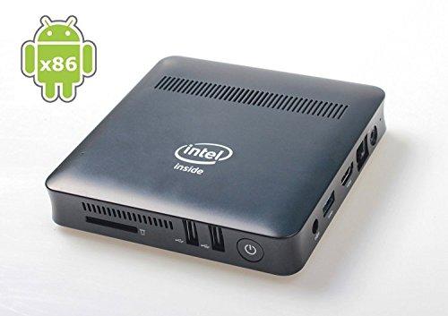 ovegna Mini PC MN5: Intel Atom n3450Quad Core, 2GB DDR332GB SSD Android x8664-bit, Dual Core, VESA Mount, HDMI, WiFi, USB3.0, RJ45LAN Port (Android x86)