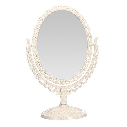 Bluelover Bureau Recto Verso Maquillage Rotatif Miroir Ovale Rond en Forme De Coeur Miroirs Cosmétiques Décor À La Maison - 03