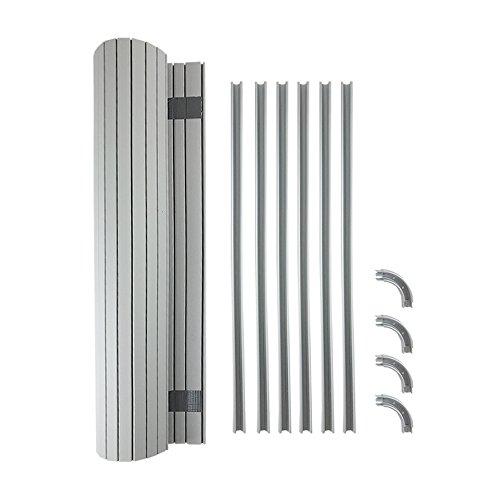 Juego de puerta de persiana (340 mm de ancho x 650 mm de largo extendido) para caravana y autocaravana. Almacenamiento de cocina: se adapta a la mayoría de los juegos de muebles de autocaravana