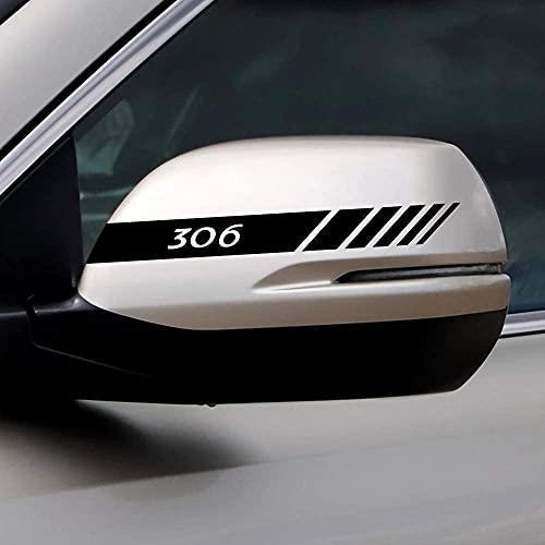 2 Piezas Coche Pegatinas Espejo Retrovisor Juego Pegatinas Estilo Pegatina, para Peugeot 306 Auto Styling