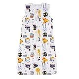 Nabance Babyschlafsack 0.5 Tog Schlafsack Baby aus atmungsaktiver Baumwolle leichter Schlafsack Einstellbar für Sommer Größe:70-90cm für 3-18 Monaten