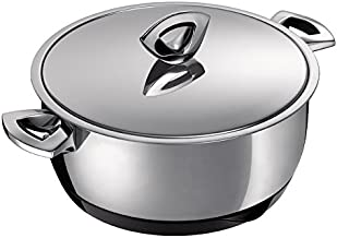 Kuhn Rikon Durotherm Swiss-Made Cookware, Casserole with Lid, 7-Inch - 2QT
