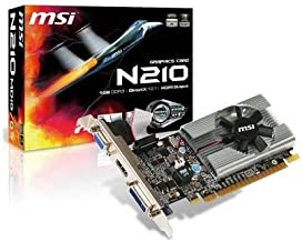 MSI Video Card GeForce 210 1GB 64-bit (N210-MD1G/D3) DDR3 PCI Express 2.0 x16 HDCP Ready Low Profile Ready