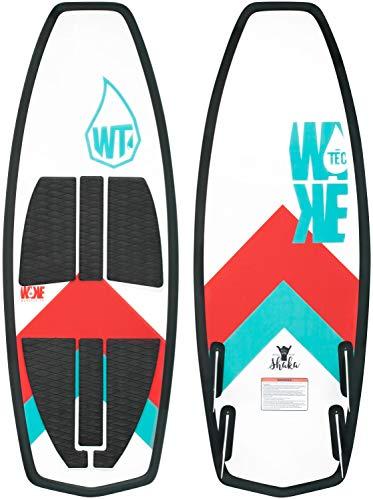 WAKETEC Wakesurf Board Shaka 58', Handgefertigter EPS Kern, für Anfänger und Fortgeschrittene, perfekt für kleine Wakesurfwellen, 4 Future Finnen, Eva Oberfläche mit Kick Tail, Länge 147 cm, 400022