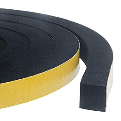 High Density Foam Insulation Tape Adhesive, Seal, Doors, Weatherstrip, Waterproof, Plumbing, HVAC, Windows, Pipes, Cooling, Air Conditioning,