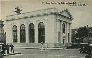Riverhead Savings Bank Riverhead, New York Original Vintage Postcard