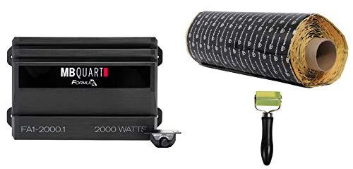 MB QUART FA1-2000.1 2000 Watt Mono Amplifier Car Audio 1-Ohm Amp+Remote+Rockmat